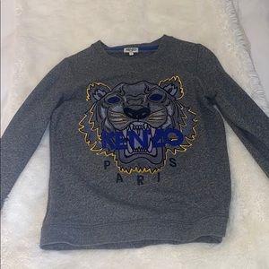 Kenzo Paris tiger dark gray sweater